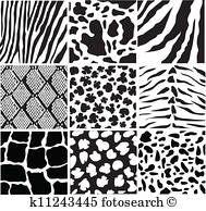 Animal Skin Textures Clipart K6570851 Animal Skin Skin Textures Black And White