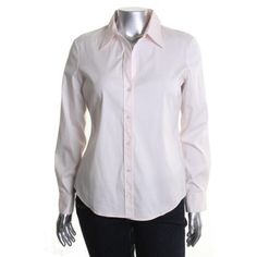 Theory Womens Larissa Collar Cotton Button-Down Top