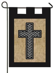 IAmEricas Flags - Burlap Cross with Chevrons Garden Flag, $15.00 (http://www.iamericasflags.com/products/burlap-cross-with-chevrons-garden-flag.html)