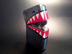X2 XMEN UNITED PYRO LIGHTER SHARK MOUTH WW2 BOMBER ART MOVIE PROP MARVEL REPLICA