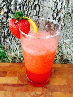Strawberry Coconut Electrolyte Margarita We put back all the electrolytes that the alcohol can pilfer with the coconut water and Himalayan pink salt in this refreshing slushy delight.  Ingredients: 1 pound organic, fresh strawberries, hulled 1 cup coconut water 2⁄3 cup freshly-squeezed lemon juice 15 drops of dark liquid stevia  Directions: - Add strawberries, coconut water, lemon juice, and stevia in blender and blend until completely smooth - Taste, add extra stevia if desired - Ser