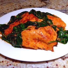 One Perfect Bite: Table for Two - Quick Fix Paprika Chicken with Spinach