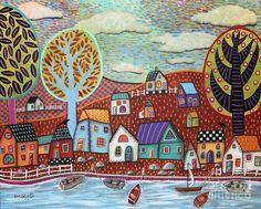 Shoreline1 Painting by Karla Gerard