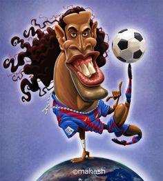 Ronaldinho por Mahesh Nambiar