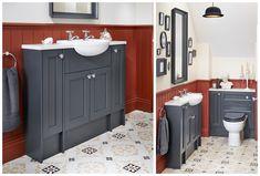 Roseberry Bathroom Basin Furniture From Utopia Bathrooms Bathroom Basin Units, Bathroom Storage Units, Dark Blue Bathrooms, Grey Bathrooms Designs, Blue Vanity, Grey Bathroom Vanity, Bathroom Goals, Bathroom Colors, Bathroom Inspo