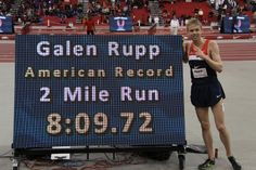 Galen Rupp beats Pre's record.