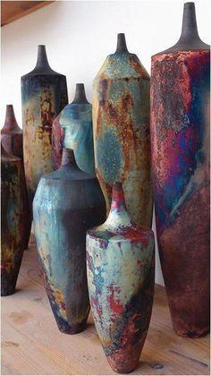 Stunning Raku ceramics - Floral and big vase arrangements - . Stunning Raku Pottery – Floral and big vase arrangements – Raku Pottery, Pottery Sculpture, Pottery Art, Cerámica Ideas, Keramik Design, Grands Vases, Big Vases, Sculptures Céramiques, Keramik Vase