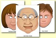 Family Resources - White Family Role Play Masks#Repin By:Pinterest++ for iPad#