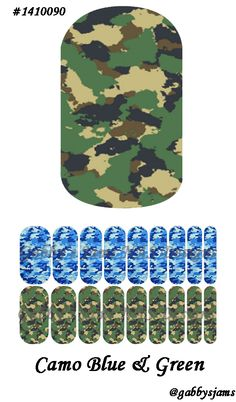 Gabbys Jams NAS Designs Jamberry NAS Wraps Camouflage Blue and Green. Shop online: https://www.jamberry.com/us/en/shop/marketplace/gabbysjams   Come check our my groups: https://www.facebook.com/gabbysjams or https://www.facebook.com/groups/gabbysjamsnasdesigns