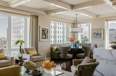 This room looks so comfortable - each and every seat | Contemporary Dining Room by Terrat Elms Interior Design