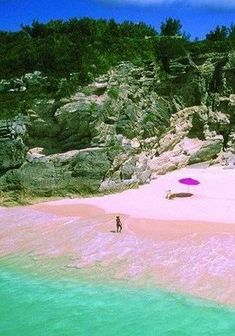 Get some sun on a pink sand beach in Bermuda
