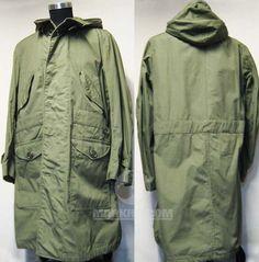 US Korean war M1947 Field parka shell with hood Overcoat 1947 spec MIL-O-1952 Small size (: markhitcom :)