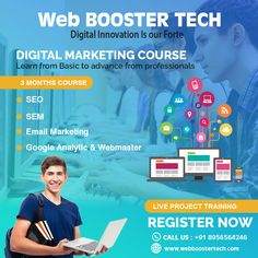 web booster tech is a website designing, web development and best digital marketing company in india providing services as per business need. Email Marketing, Social Media Marketing, Seo Sem, Best Digital Marketing Company, Search Engine Marketing, Success Story, Google Ads, S Mo, Search Engine Optimization