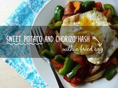 Recipe: Sweet Potato and Chorizo Hash (with a fried egg) + bonus Chickpea and Chorizo Stew! - Keeping Healthy Getting Stylish