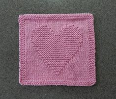 HEART Knitted Cloth  100% Cotton Dusty Pink. by AuntSusansCloset