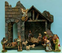christmas antique collection paper and lametta ornaments plus verzameling antiek papier en karton kerst versiering Christmas Time Is Here, Vintage Christmas, Nativity Sets, Ornaments, Paper, Awesome, Painting, Google, The Nativity