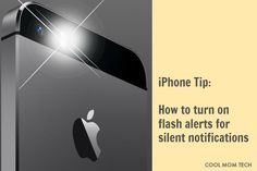 iPhone tip: How to turn on flash LED alerts for silent notifications. Perfect if you have a sleeping baby or you're somewhere that even a vibrate sound would be distracting.