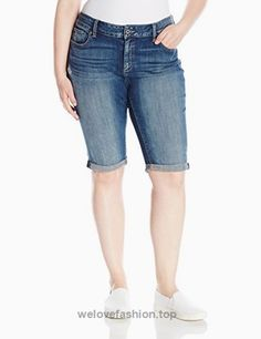 Lucky Brand Women's Plus Size Ginger Bermuda Short, Tamarac, Lucky Brand plus denim bermuda short with back stitch detail Pocket Detail, Lucky Brand, Fashion Brands, Bermuda Shorts, Topshop, Plus Size, Denim, Lady, Amazon