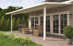 ideas for covered back porch on single story ranch - Google Search