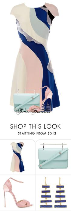 """""""Untitled #6585"""" by brassbracelets ❤ liked on Polyvore featuring HUISHAN ZHANG, M2Malletier, Casadei and Pippa Small"""