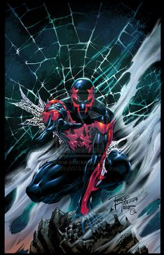 Spider-Man 2099 colors by spidey0318.deviantart.com on @deviantART