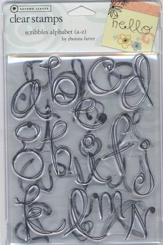 Autumn Leaves Clear Stamps Scribbles Alphabet by Rhonna Farrer #AutumnLeaves