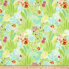 Moda Canyon Desert Cactus from @fabricdotcom  Designed by Kate Spain for Moda, this cotton print is perfect for quilting, apparel and home decor accents. Colors include shades of green, shades of teal, citrus, plum, purple, coral, red, white, magenta and grey.