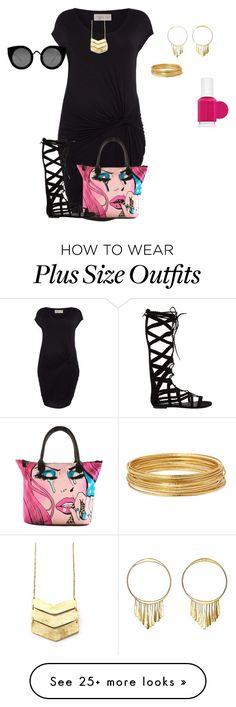 """plus size spring/summer chic"" by kristie-payne on Polyvore featuring Label Lab, Iron Fist, Steve Madden, Quay, Essie, Aurélie Bidermann, Bold Elements, women's clothing, women and female"