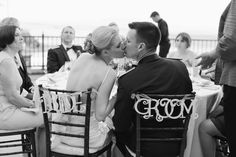 Bride and Groom chair decor // photo by Meg Ruth