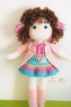 Crochet Doll Ready to be shipped by LinaMarieDolls on Etsy ☆ (inspiration)