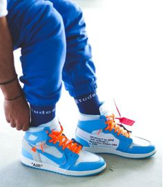 "f4a1f30743ed7b These Jordan 1 Retro High Off-White University Blue also known as the ""UNC""  editions"