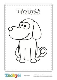 Toobys - Dog for coloring - www.toobys.tv