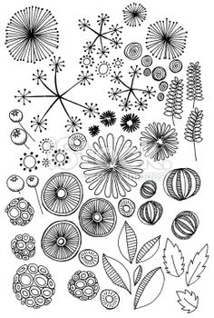 abstract nature doodles Royalty Free Stock Photo