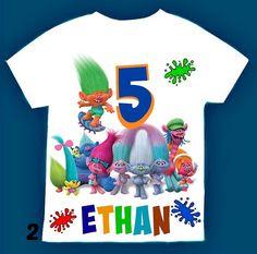 Trolls Birthday boy  Shirt Personalized with by FantasyKidsParty