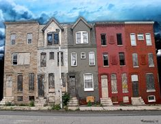 Paintings of Row Houses | Baltimore Row Houses Digital Art
