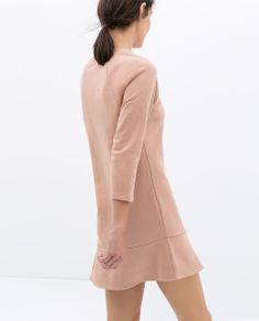 Image 4 of VELOUR FRILL DRESS from Zara