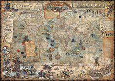 Pirate Map - Tapetit / tapetti - Photowall