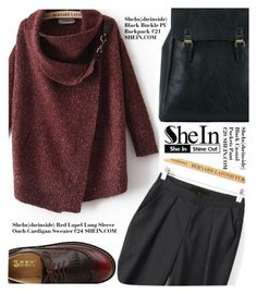 """SheIn contest: Win a Red Cardigan Sweater"" by alessandra-mv ❤ liked on Polyvore featuring shein"