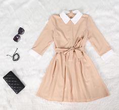 Fashion Long-sleeved Dress on Luulla Ol Fashion, Fashion Dresses, Sleeved Dress, Rompers, Style Inspiration, Shirt Dress, Fabric, Shirts, Clothes