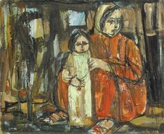Ruth Schloss, Mother and Son