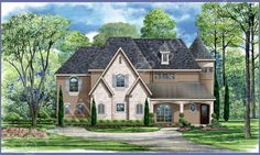 Branson Valley House Plan - Front Rendering