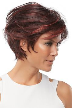 Mariska by Jon Renau Wigs - Lace Front, Monofilament, Hand Tied Wig Short Hair With Layers, Short Hair Cuts For Women, Short Hairstyles For Women, Layered Bob Hairstyles, Wig Hairstyles, Fashion Hairstyles, Monofilament Wigs, Short Hair Trends, Synthetic Lace Wigs