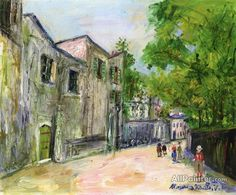 Maurice Utrillo Street Scene oil painting reproductions for sale