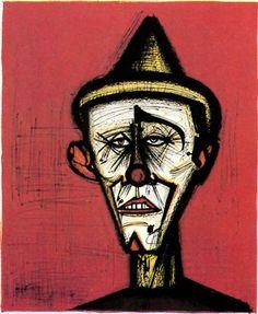 Bernard BUFFET ( 1928 - 1999 ) , Mon cirque, 1968