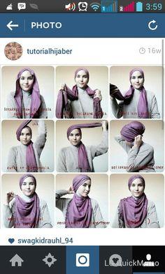 Purple  Hijab style