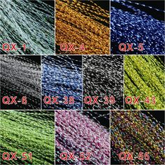 Maximumcatch 150pcs Holographic Crystal Flash Fly Tying Material Lure Making Fly Tying Tools