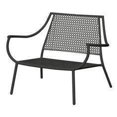 emu round loungesessel mit streckmetall sitzschale, stapelbar, Hause deko