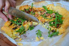 uit Relax mama in de keuken: plaattaart met prei en champignons