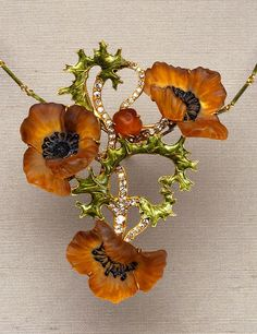 Poppy necklace, Rene Lalique