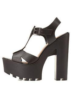 Soda Lug Sole Platform T-Strap Sandals: Charlotte Russe $40